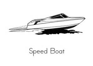 Speed Boat Coloring Pages sketch template