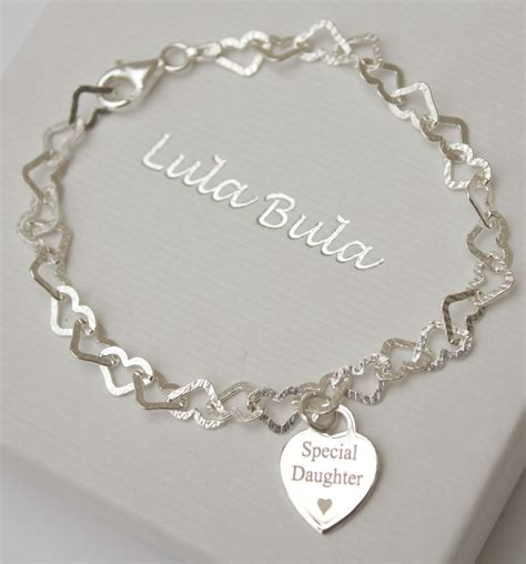special engraving special entwined hearts charm bracelet free