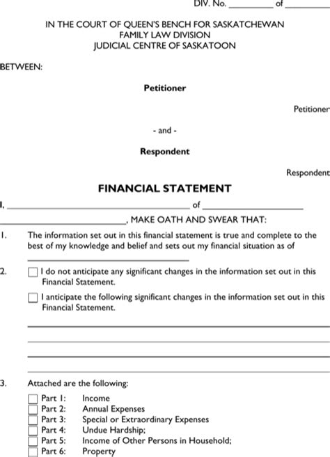 download legal statement templates for free formtemplate