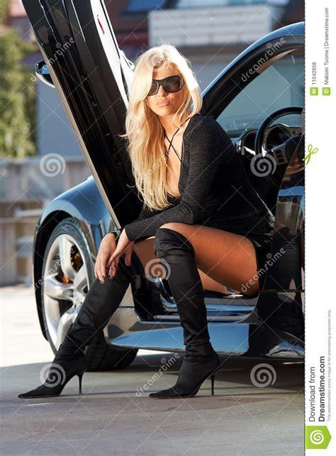 car  babe stock photo image  legs babe driver