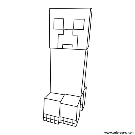free coloring pages of creeper head