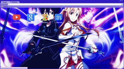 theme chrome sword art online sword art online chrome theme themebeta