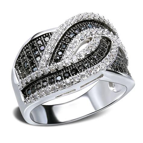 Cincin Tunangan Original Black Line Ring lines rings black carved ring stones ring with platinum and black gold plate