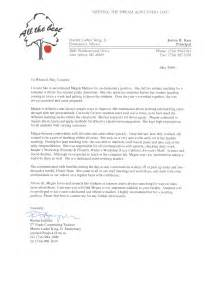 Recommendation Letter Of A Student Recommendation Letter Sle For From Student