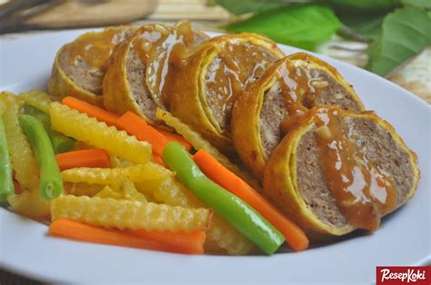 rolade daging sapi siram saus gurih resep resepkoki