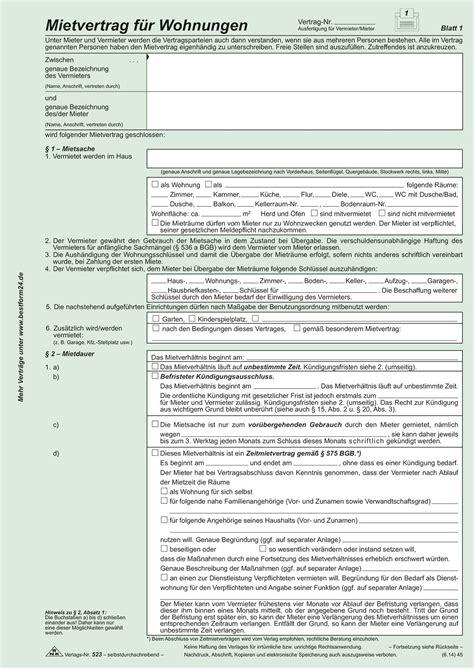 wohnungs einheitsmietvertrag b 252 robedarf