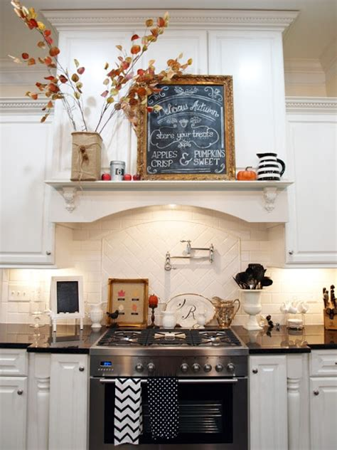 kitchen mantel decorating ideas 37 cool fall kitchen d 233 cor ideas digsdigs