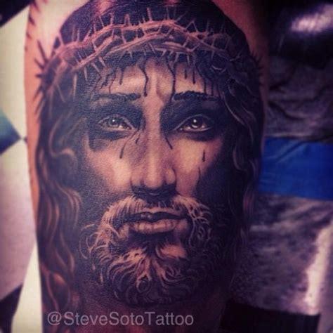 steve soto tattoo arm jesus religious religious by steve soto