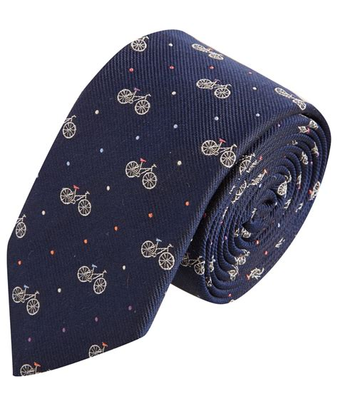 Navy Print lyst paul smith navy bicycle print silk tie in blue for