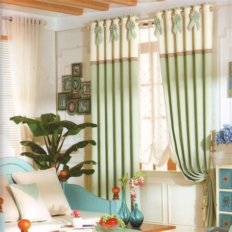green color curtains light green color country window curtains
