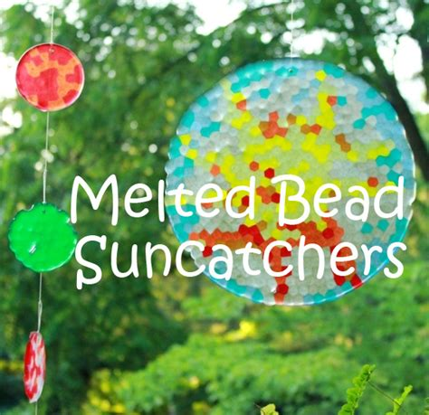 plastic bead suncatchers melted bead suncatchers how to make them with pony