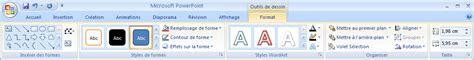 les themes de powerpoint 2007 ajouter ou supprimer un remplissage un contour ou un