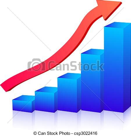 Small Graphic Design Business From Home by Clip Art Vector Of Business Growth Graph Csp3022416