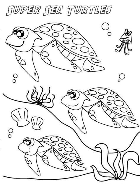 turtle eggs coloring page sea turtle pictures for kids az coloring pages