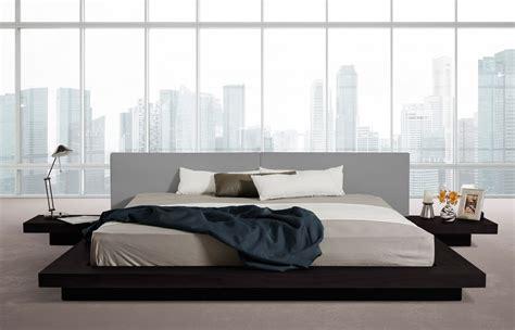 low platform beds modrest opal modern low profile platform bed