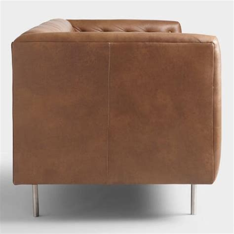 World Market Leather Sofa Brown Leather Abram Sofa World Market