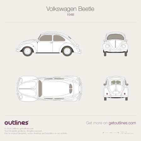volkswagen bug drawing 1948 volkswagen beetle drawings outlines