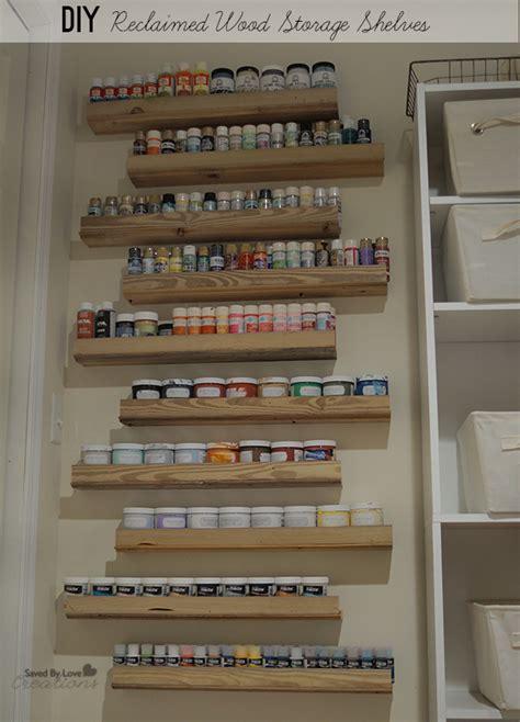diy craft paint storage diy reclaimed wood craft paint storage shelves