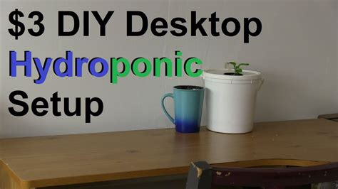 simple  diy desktop hydroponic system