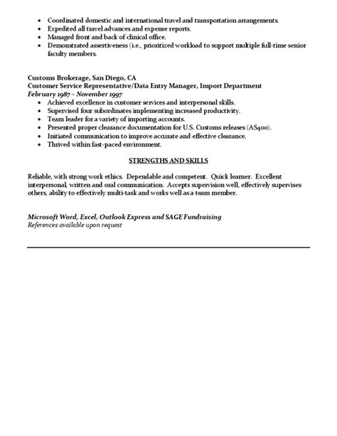 sle administrative assistant resume free