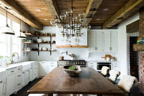 54 beautiful small kitchens design kitchens beams and stove 10 best floorings for your rustic kitchen
