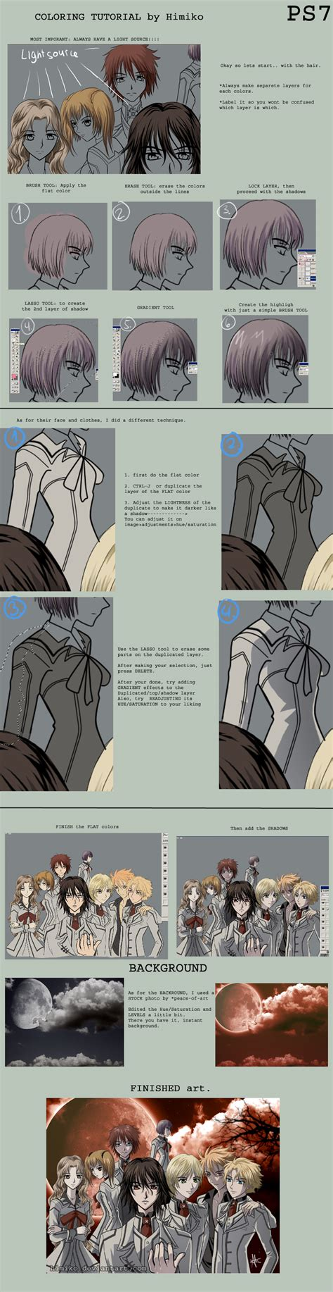 photoshop coloring tutorial coloring tutorial photoshop by himiko on deviantart