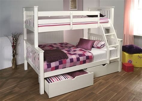 3 Sleeper Bunk Beds by Pavo High Three Sleeper Bunk Bed White Limelight Beds