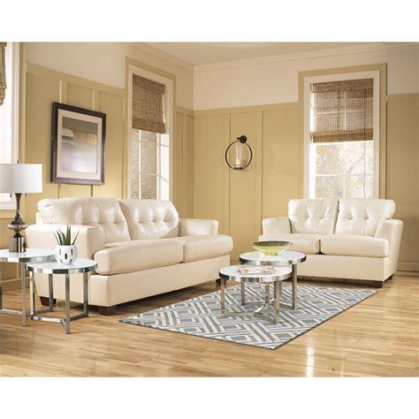 ivory leather sofa  loveseat living room set