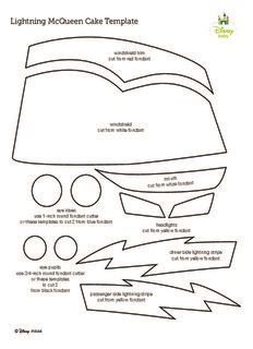 car cake template lightning mcqueen cake template pdf drive