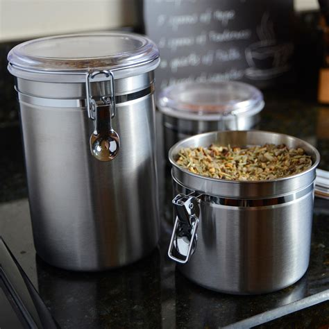 clear kitchen canisters amazon com anchor hocking round stainless steel airtight