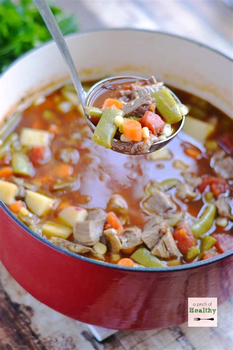 Vegetable Beef Soup A Pinch Of Healthy Better Homes And Gardens Vegetable Beef Soup