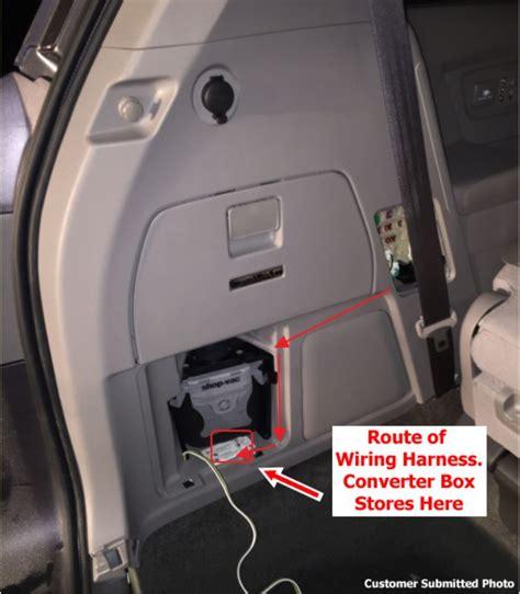 install trailer wiring harness   honda odyssey se  rear vacuum cleaner option
