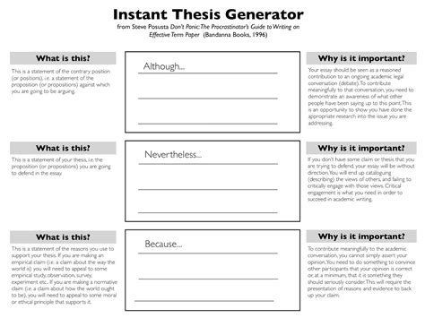 thesis statement generator for a research paper thesis question generator
