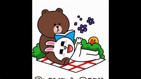 line sticker brown cony 0811355944