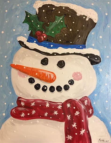 paint nite bedford ns snowman paint regan