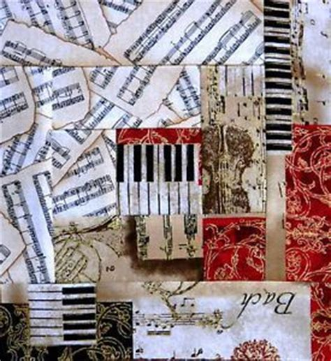 music themed quilting fabric log cabin block using music themed fabrics quilts