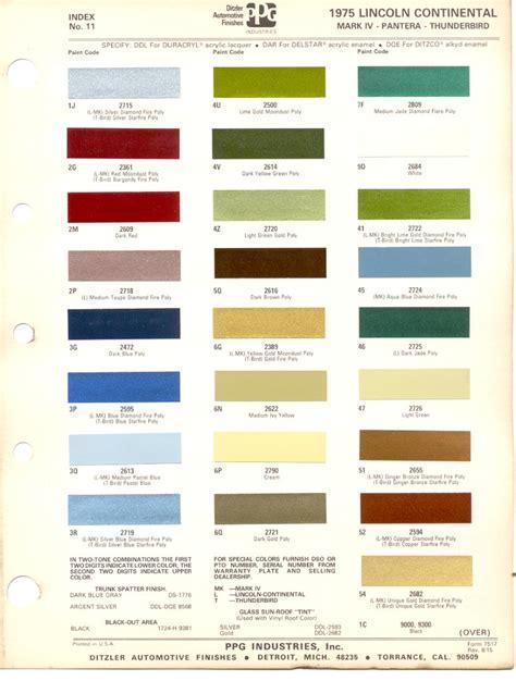 ppg paint colors autos post