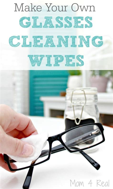 make your own cleaning wipes for glasses 4 real