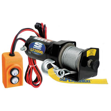 superwinch lt2000 12 volt dc utility winch with free