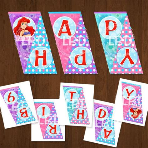printable little mermaid birthday banner 80 best images about little mermaid party ideas on