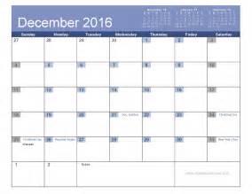 December Calendar Templates by December Simple Calendar Templates 2016