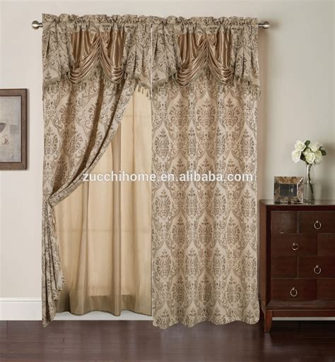 curtain backing fabric 100 polyester fabric jacquard curtain in luxury valance