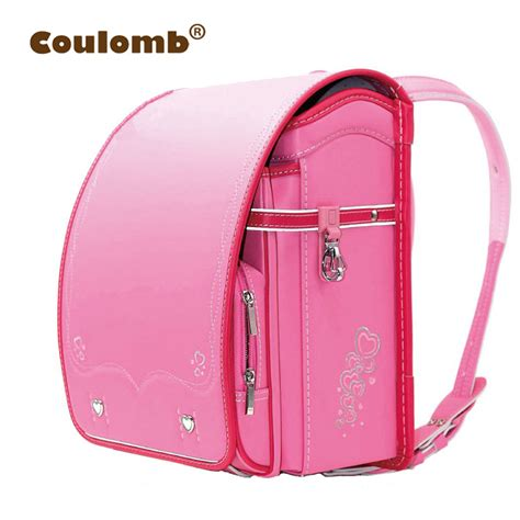 Japannese School Bag 1 Black Tas Sekolah Jepang Import coulomb children backpack for pink leather