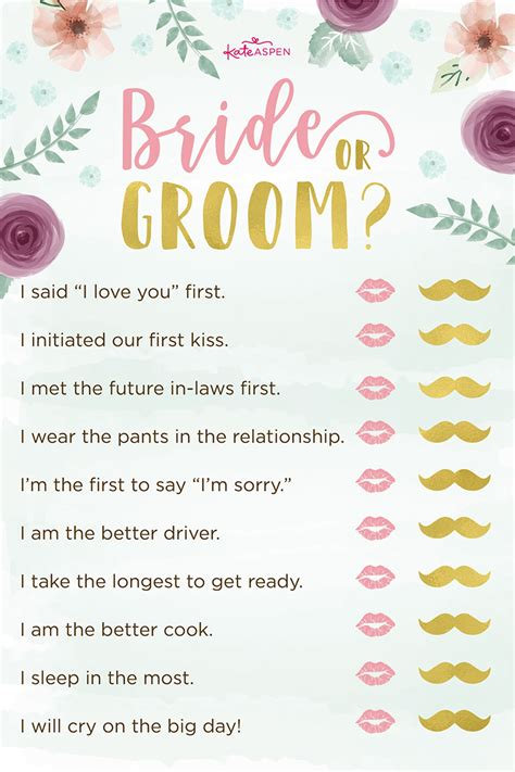 activities for wedding shower 3 bridal shower free printables kate aspen