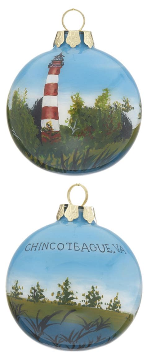 chincoteague virginia christmas ornament beach