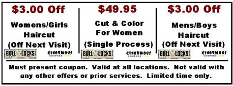 haircut coupons parker co bull locks hair castle rock co hair color cuts salon