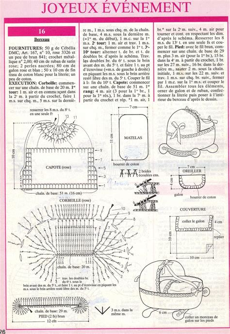 Modele Berceau Au Crochet Avec Grille