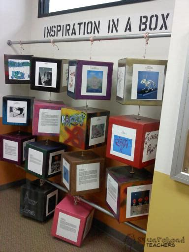inspiration in a box creative project display