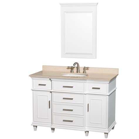Berkeley 48 Quot Inch White Finish Bathroom Vanity Cabinet 48 Inch Bathroom Vanity Cabinet