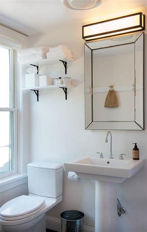 white shelves bathroom white shelf with black corbels modern bathroom